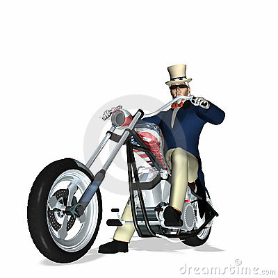 Free Uncle Sam Chopper 1 Royalty Free Stock Photo - 2190305