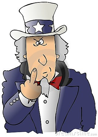 Uncle Sam Flipping The Bird