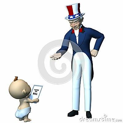 Uncle Sam - Future Taxes