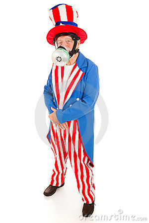 uncle sam in gas mask full body stock photo image 9762844. Black Bedroom Furniture Sets. Home Design Ideas