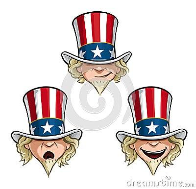 Free Uncle Sam Head Stock Photos - 57774553