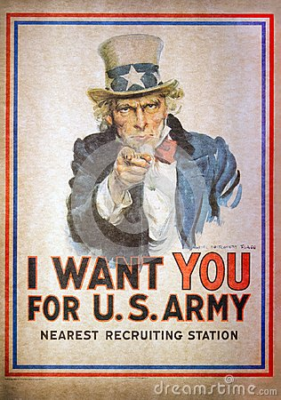 Free Uncle Sam I Want You For The U.S. Army Recruitment Poster By Jam Royalty Free Stock Images - 109424529