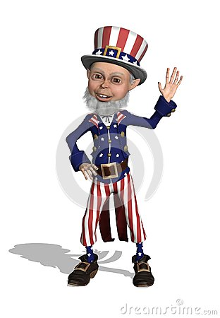 Uncle Sam Waving