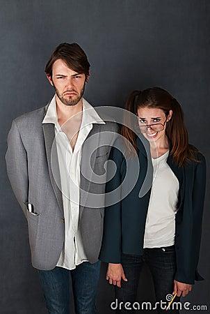 Free Uncomfortable Couple Royalty Free Stock Image - 19513366