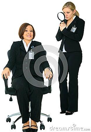 Uncomfortable Employee Afraid Of Investigator