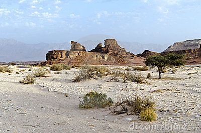 Uncommon rocky formation in Timna park, Israel