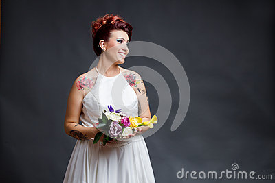 Unconventional bride portrait
