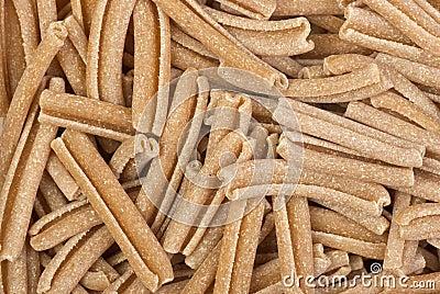 Uncooked bran pasta