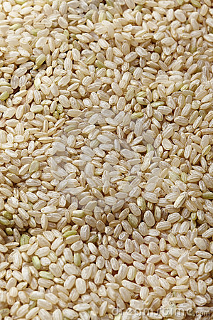 Uncooked brown rice