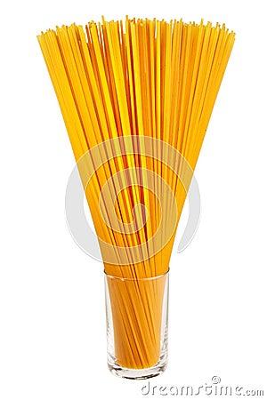 Uncooked italian spaghetti.