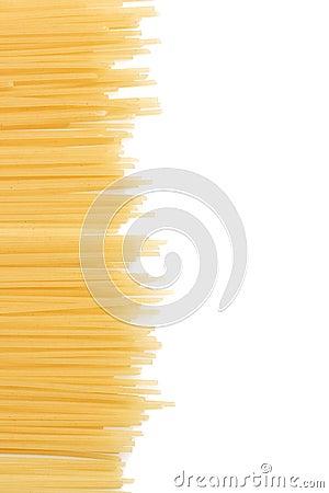 Uncooked Italian spaghetti