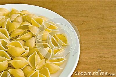 uncooked pasta shells