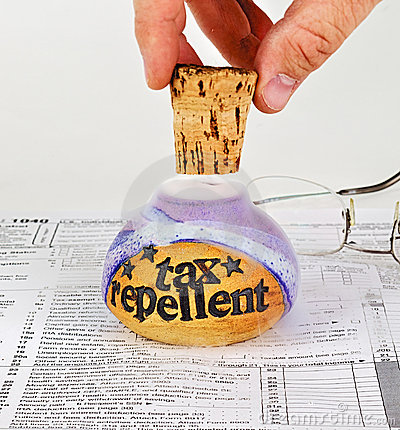 Free Uncorking Tax Repellent Stock Image - 8746851