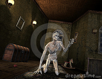 Undead in an old room
