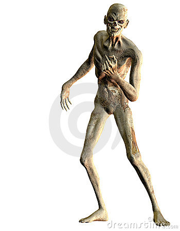 Undead standing with his hand