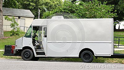 Undecorated Walk-Up Food Truck Editorial Photography