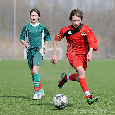 Under 15 soccer game Editorial Image