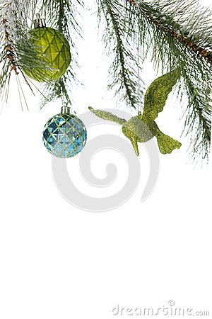 Free Under A Christmas Bough Border Royalty Free Stock Image - 35367216
