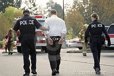 Under Arrest Royalty Free Stock Photos - Image: 2319298
