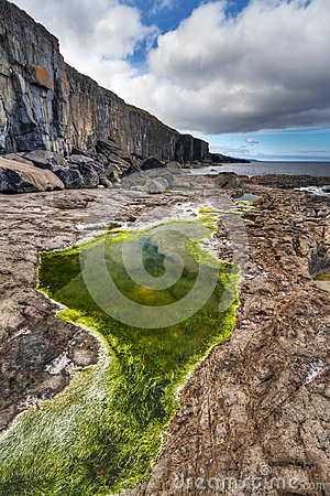 Under cliffs of Fanore