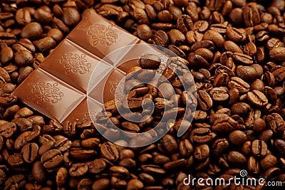 Under coffee beans