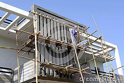 Under-construction building site