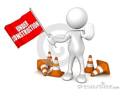 Under construction flag