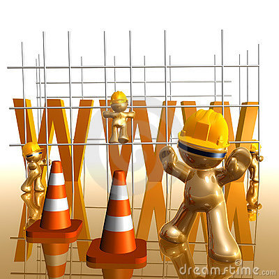 Under construction funny 3d icon