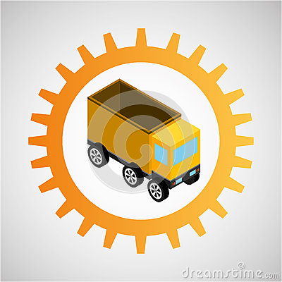 Free Under Construction Gear Dump Truck Royalty Free Stock Photography - 81183137