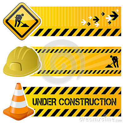 Free Under Construction Horizontal Banners Stock Photos - 37683343