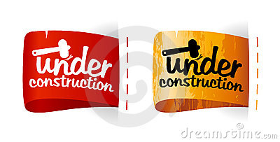Under construction labels.