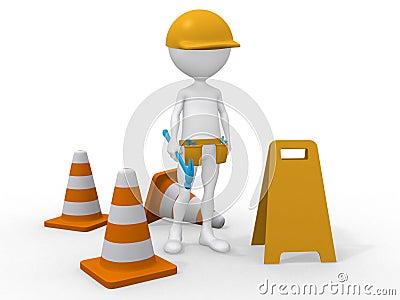 Under construction. Maintenance area