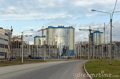 Under construction residential district