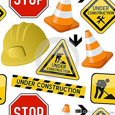 Under Construction Seamless Pattern