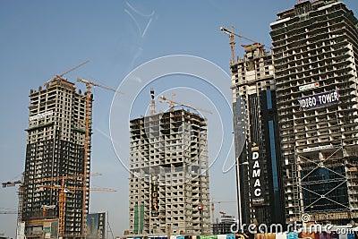Under Construction - Sheikh Zayed Road Dubai UAE Editorial Image