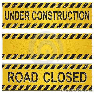 Free Under Construction Sign Stock Photography - 5323542