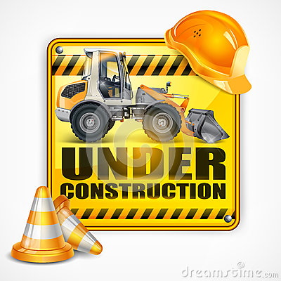 Free Under Construction Sign Square Stock Images - 30859254