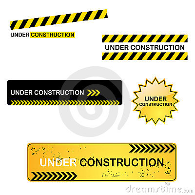 Free Under Construction Signs Royalty Free Stock Images - 13984299