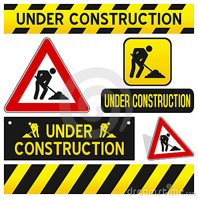 Free Under Construction Signs Set Royalty Free Stock Photos - 20410638