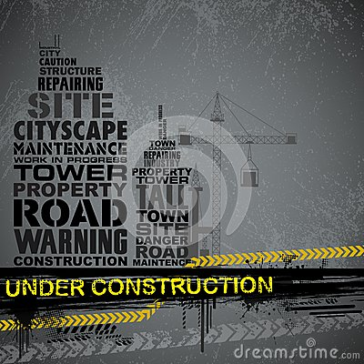 Under Construction Typography Royalty Free Stock Photos - Image: 25738748