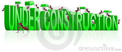 Under construction webpage or website building