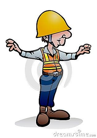 Under construction worker