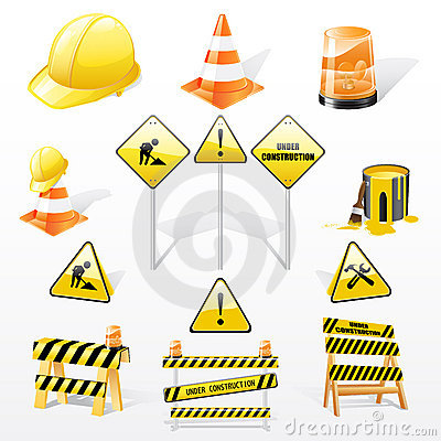 Under constructions icons