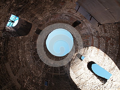 Under Diocletian Mausoleum Dome in Split