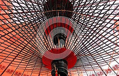 Under Japanese umbrella