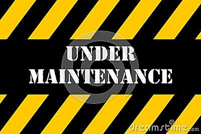 Under Maintenance Banner