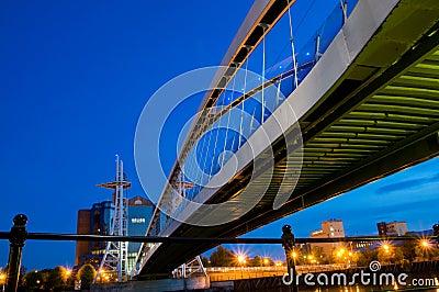 Under the millennium bridge Manchester