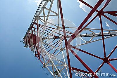 Under a radio tower