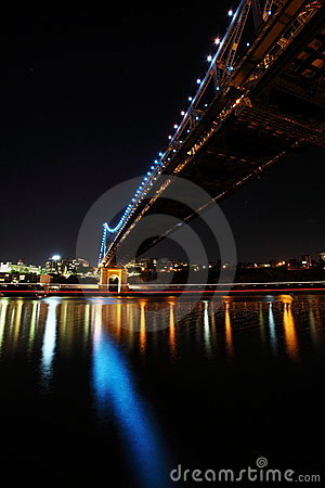 Under Story Bridge and Brisbane City Editorial Stock Photo