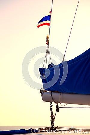 Under Thai flag